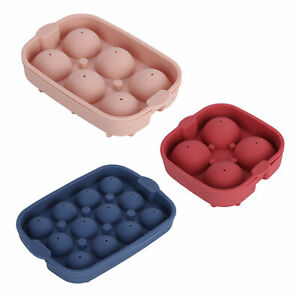 4/6/12 Holes Ice Tray Ball Maker Rubber Mold Sphere Whiskey Round Mould MF