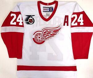 BOB PROBERT 1991 NHL 75TH ANNIVERSARY CCM REPLICA DETROIT RED WINGS JERSEY NEW