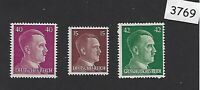 MNH Stamp set / Adolph Hitler / 1940s Third Reich issues / WWII Germany stamps