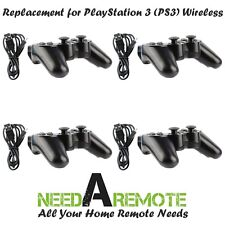 4 Black Wireless Bluetooth Game Controller For Sony PS3 Playstation 3 P3 Charger