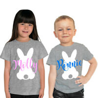 Personalised Easter Bunny T Shirt Kids Baby Vest Cute Easter Gift Childrens Name
