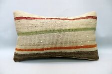 Kilim Pillow, 12x20 in, Decorative Sofa Pillow, Ethnic Boho Pillow, Throw Pillow