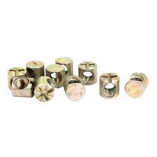 10 Pcs M6 Metal Cross Head Dowel Barrel Nuts Chair Bed Cot Bolts 10mm Length