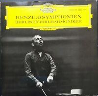 Henze - 5 Symphonies, HANS WERNER HENZE, BPO, DGG 2 LP Tulip STEREO