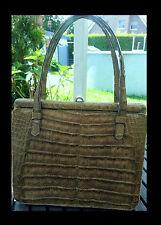 GOLDPFEIL Handtasche KROKO Luxus LEDER Ledertasche ABENDTASCHE Krokotasche TOP #