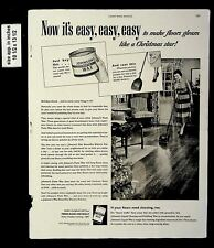 1949 Fiber McGee and Molly Johnson's Paste Wax Vintage Print Ad 19038