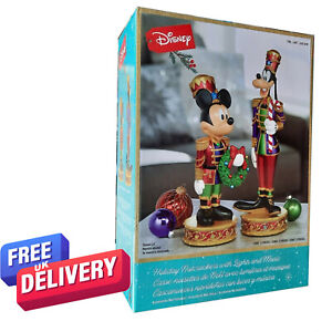 Quality Disney Christmas Mickey Mouse And Goofy Nutcrackers with LED Lights Xmas
