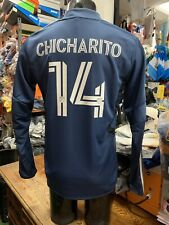 Adidas LA galaxy Training Top 20/21 LS Navy #14 CHICHARITO  Size Mans Large Only