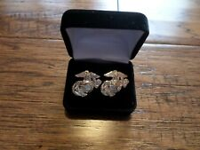 U.S Military Marine Corps Ega Cufflinks With Jewelry Box 1 Set Usmc Boxed