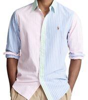 NWT Polo Ralph Lauren Men's Sz XL Classic Fit Iconic LS FUN Striped Oxford Shirt