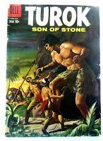 DELL Comics TUROK SON OF STONE (June 1959) #16 SILVER AGE GD/VG Ships FREE!