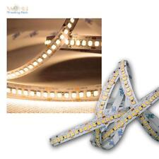 ( 16€/ m) 5M LED BANDEAU LUMINEUX 208 SMD/m blanc chaud 1950lm/M 12V rayures
