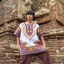 Neu Afrika Dashiki Hemd Damenmode Top/Spitze/Bluse Herrenmode T-Shirt XXL 20909