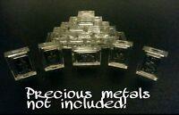 1 Gram .999 Fine Silver-Gold-Palladium Bar Acrylic Holders/Cases X-10 <--{☆☆☆☆☆}