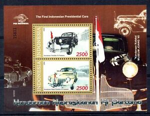 STAMPS - MINIATURE SHEET - INDONESIA - FIRST PRESIDENTIAL CARS - 2004 -