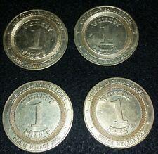 2002 WHISKEY PETE'S ONE DOLLAR GAMING TOKEN PRIMM NEVADA LAS VEGAS