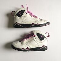 Nike Air Jordan 7 Retro Basketball Sneakers Size 7Y White Youth 442960-127