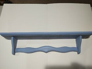 Rustic Painted Solid Wood Wall Shelf Farmhouse style.