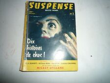Suspense n° 1 Ira Levin W Irish Burnett E Caldwell Mickey Spillane Avril 1956
