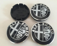 "4x56mm 2.2"" Aluminium Logo Emblem Wheel Center Rim Hub Caps Black Fit Alfa Romeo"