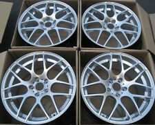 "19"" Eurotek Wheels For Ford Mustang GT 2005 - 2011 Staggered Silver Rims Set"