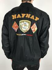 Vintage NAF NAF Glorious Experience Bomber Jacket | Retro 90s | Small S Black