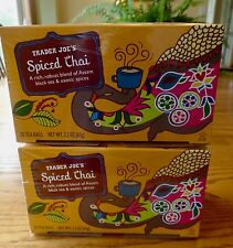 Trader Joes SPICED CHAI TEA Assam Black Tea & Exotic Spices 2 Boxes 🌺