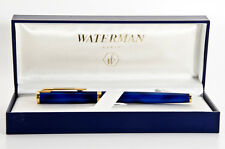 WATERMAN PREFACE ROMANCE  BLUE   MARBLE & GOLD ROLLERBALL  PEN NEW   IN BOX
