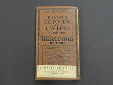 Bicycle, Barons Motoring & Cycling Road Map, c.1910 Hertford