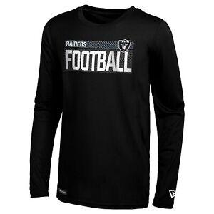 New Era NFL Football Men's Oakland Raiders Measured Dri-Tek Long Sleeve Tee