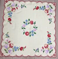 France Tablecloth Embroidered Rayon Mix