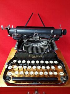 Vintage 1932 : CORONA SPECIAL Folding Portable Typewriter : All Working