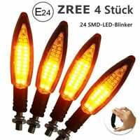 4x Led Mini Blinker Set Lizzard schwarz getönt vorne hinten Motorrad Quad 12V DE