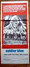 SOLDIER BLUE Original 1970s Daybill Movie Poster Candice Bergen, Peter Strauss