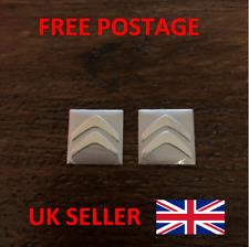 2x CITROEN Key Fob Badge Logo Emblem Replacement Sticker 16x16mm size -UK SELLER