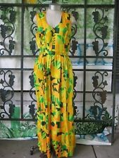 Vintage Hostess Loungewear / Jumpsuit Green & Orange by Eddy George Ala Casa Cal