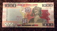 Billete De Sierra Leona. 1000 hacían. Uncirculated. fechada 2013.