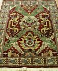 GORGIOUS DRAGON DESIGN HAND KNOTTED WOOL WELL MADE ORIENTAL RUG CLEANED 4 x 6