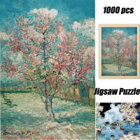 1000PCS Jigsaw Puzzles Peach Blossom Kids Vincent Van Gogh Educational Toy Gift