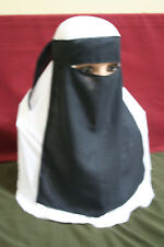 1pc Niqab Face Cover Veil Muslim Nikab Hejab Hijab Abaya Scarf Homemade in USA