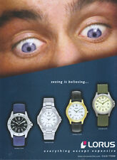 "Lorus ""Seeing Is Believing"" Watch 2001 Magazine Advert #2022"