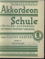 Gustav Kanter - Volkstümliche Akkordeon Schule Band 2
