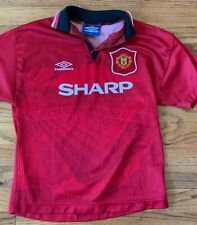 Manchester United 1994 1995 Vintage Umbro Home Red Shirt Jersey Size Youth Large