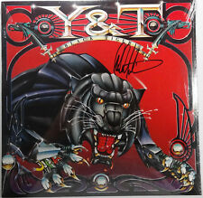 SIGNED Y & T AUTOGRAPHED DAVE MENIKETTI BLACK TIGER ALBUM VINYL SEALED LP W/PIC