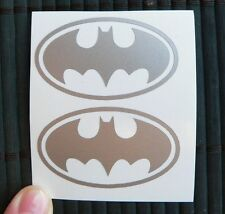 kit 2 adesivi Batman uomo man sticker decal vynil vinile auto moto film cartoon