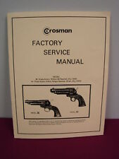Crosman Model 36 & 44 SERVICE MANUAL **w/added pages
