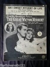 ORIGINALE SPARTITI MUSICALI-Ah! DOLCE mistero della vita dal grande VICTOR Herbert