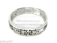 The Lord Is All I Need, Lamentations 3:24, Religious Bible Verse Bracelet #50-E