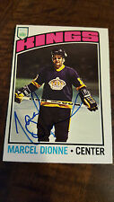 1976-77 OPC SIGNED CARD MARCEL DIONNE LOS ANGELES KINGS RED WINGS RANGERS HOF 91