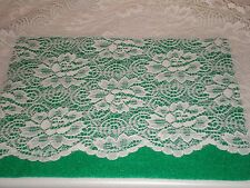 3pc Full Lace Sheers 2 Drapes Curtains Panels 1 Valance Victorian Romantic Roses